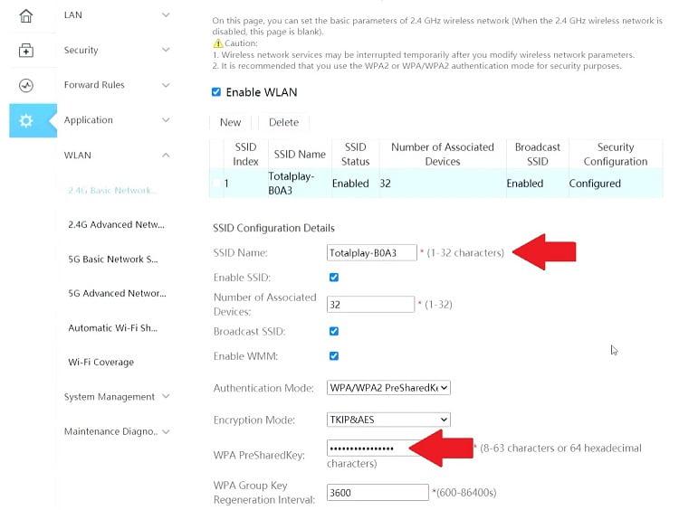 Cambiar usuario y contraseña módem Huawei HG8145V5 TotalPlay