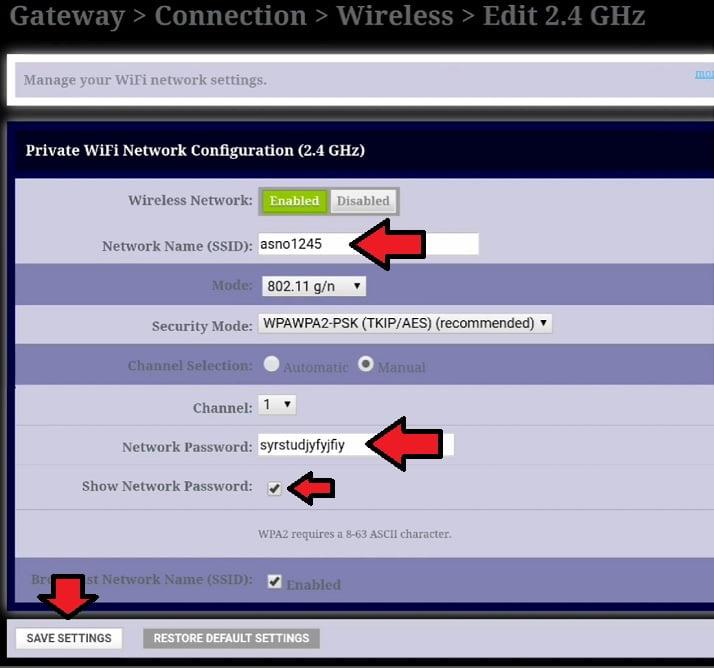 cambiar nombre de red y contraseña red WiFi módem technicolor izzi