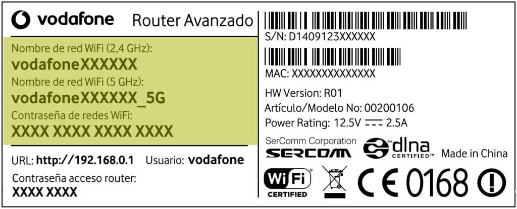 acceder router vodafone