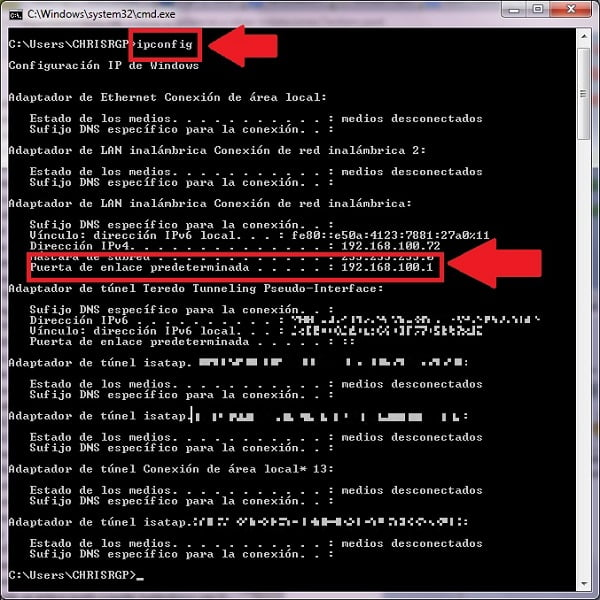 IP modem TotalPlay