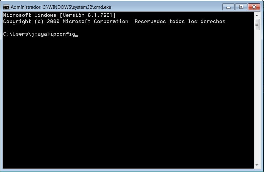 comando ipconfig